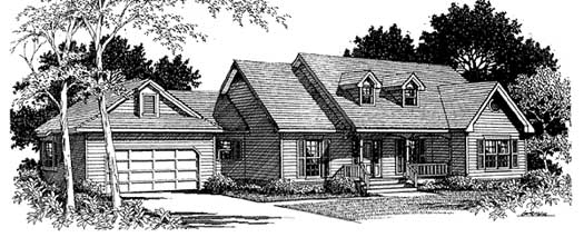 Country Style House Plans Plan: 14-177