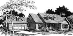 Country Style Home Design Plan: 14-177