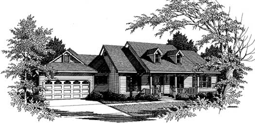 Country Style Floor Plans Plan: 14-179