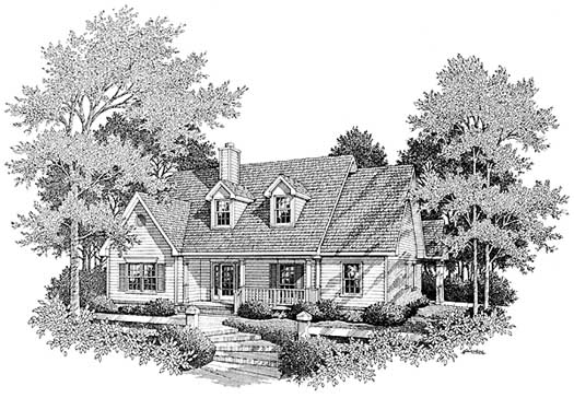 Southern Style Home Design Plan: 14-181