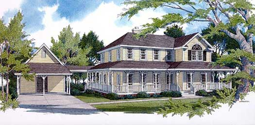 Country Style House Plans Plan: 14-182