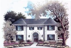 Mediterranean Style Home Design Plan: 14-183