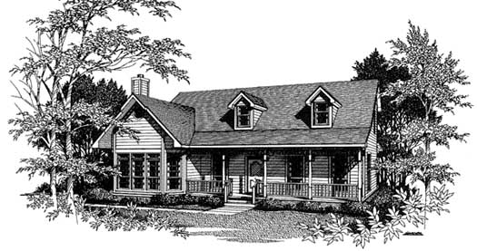 Country Style Floor Plans Plan: 14-184