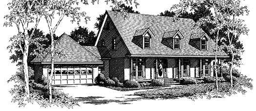 Country Style House Plans Plan: 14-185