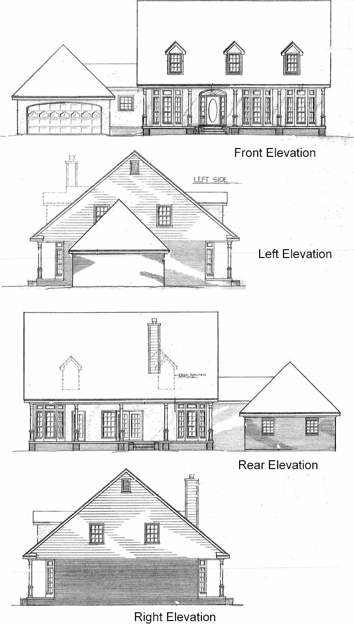Rear Elevation Plan: 14-185