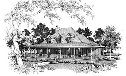 Farm Style House Plans Plan: 14-186