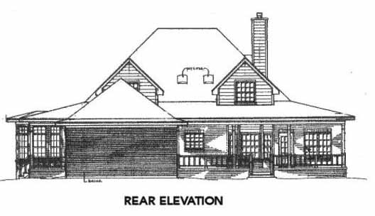 Rear Elevation Plan: 14-186