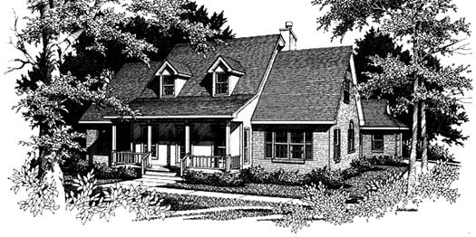 Country Style Home Design Plan: 14-187