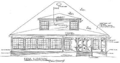 Rear Elevation Plan: 14-188