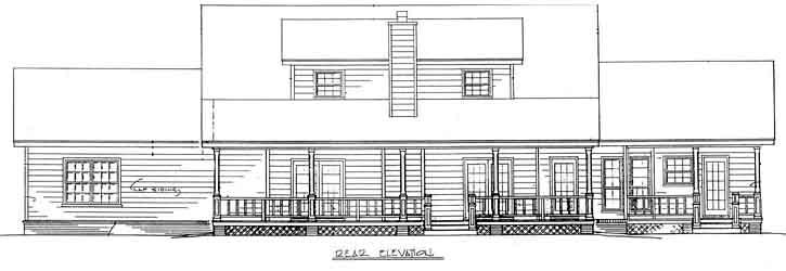 Rear Elevation Plan: 14-189