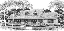 Country Style Floor Plans Plan: 14-189