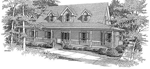 Country Style Home Design Plan: 14-191
