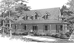 Country Style Floor Plans Plan: 14-191