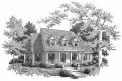 Country Style Home Design Plan: 14-192