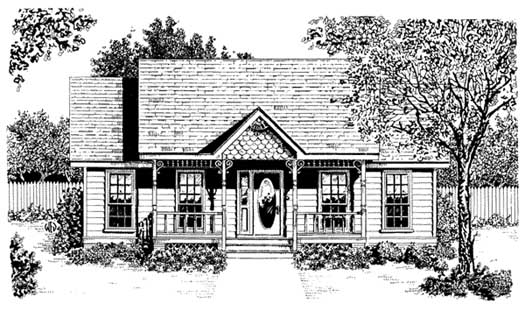 Southern Style Home Design Plan: 14-193