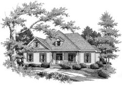 Southern Style Floor Plans Plan: 14-195