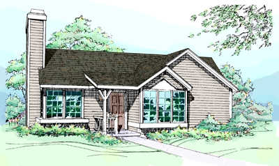 Contemporary Style House Plans 15-117