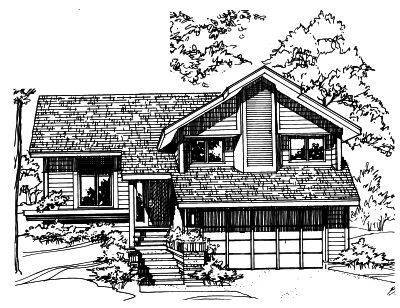 Contemporary Style House Plans 15-118