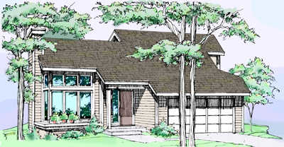 Contemporary Style Floor Plans 15-119