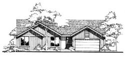 Traditional Style Home Design Plan: 15-120