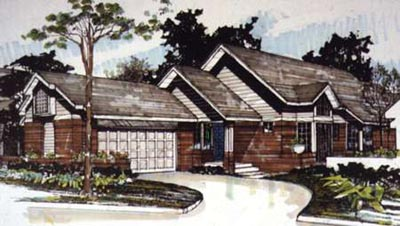 Contemporary Style House Plans 15-136