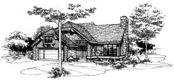 Cottage Style Home Design Plan: 15-146