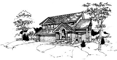 Contemporary Style Home Design Plan: 15-167