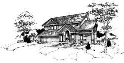 Contemporary Style Home Design Plan: 15-167