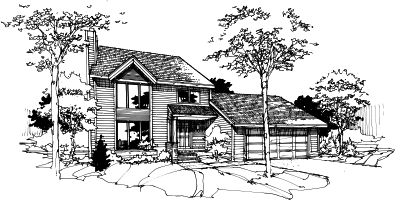 Contemporary Style House Plans 15-171