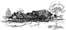Contemporary Style Home Design Plan: 15-179