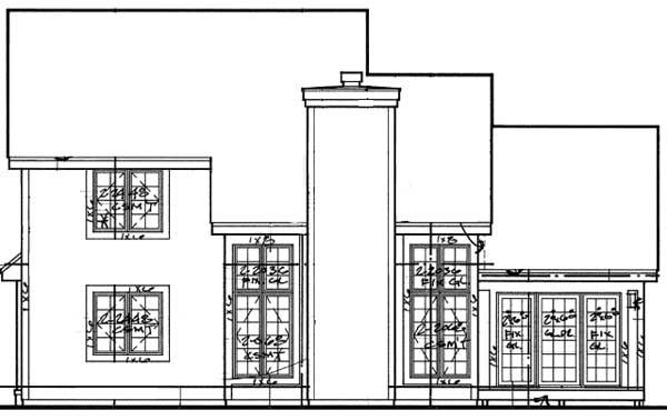 Rear Elevations Plan:15-185