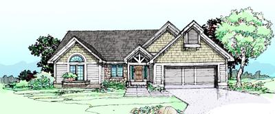 Northwest Style Home Design 15-187
