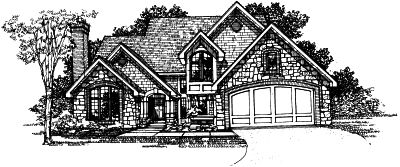 English-country Style Home Design Plan: 15-194