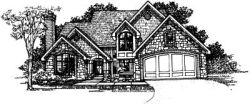 English-Country Style Floor Plans Plan: 15-194