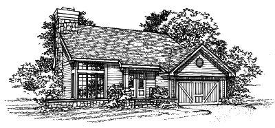 Northwest Style Home Design 15-197