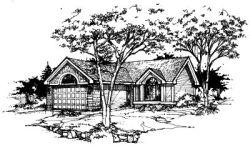 Contemporary Style Home Design Plan: 15-229