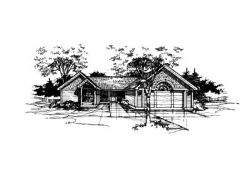 Ranch Style Home Design Plan: 15-230