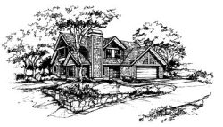 Traditional Style Home Design Plan: 15-250