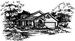 Sunbelt Style Home Design Plan: 15-274