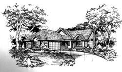 Northwest Style Home Design Plan: 15-291