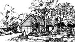 Contemporary Style Home Design Plan: 15-295
