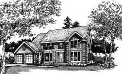 Colonial Style Floor Plans Plan: 15-297