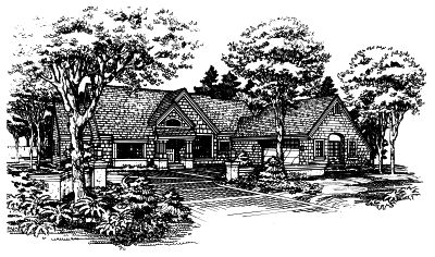 English-country Style House Plans Plan: 15-298