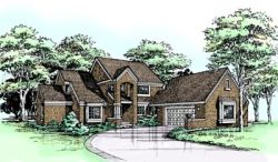 English-Country Style Floor Plans Plan: 15-306