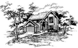 Contemporary Style Home Design Plan: 15-348