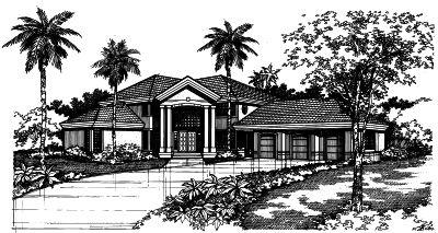 Contemporary Style Home Design Plan: 15-367