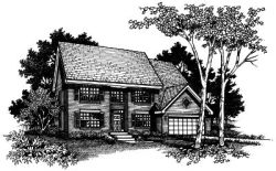 Early-American Style Floor Plans Plan: 15-377