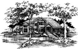 Contemporary Style Home Design Plan: 15-382