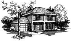 Contemporary Style Home Design Plan: 15-396