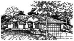 Southwest Style Home Design Plan: 15-400